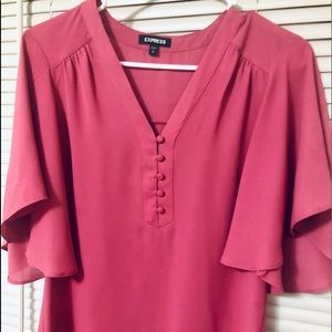Pink blouse from Express, nwot